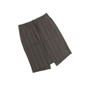 Anthropologie Elevenses Plaid Pencil Skirt